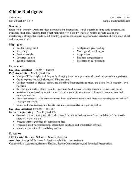 administrative assistant resume template free administrative