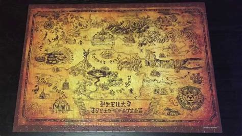 legend of zelda map puzzle the legend of zelda collector s puzzle time lapse youtube
