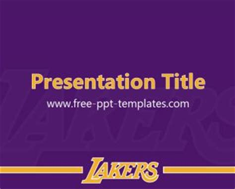 Los Angeles Lakers Powerpoint Template Is A Purple Free Purple Direction Powerpoint