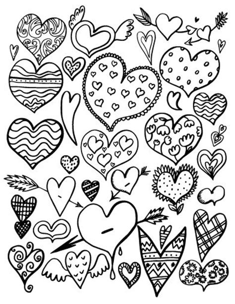 printable coloring pages for adults hearts 364 best adult colouring hearts love zentangles images
