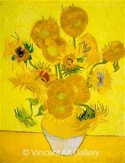 Fourteen Sunflowers In A Vase by Still Vase With Fourteen Sunflowers By Vincent