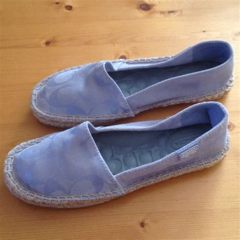 baby coach shoes coach coach baby blue suede flats sold from marta s