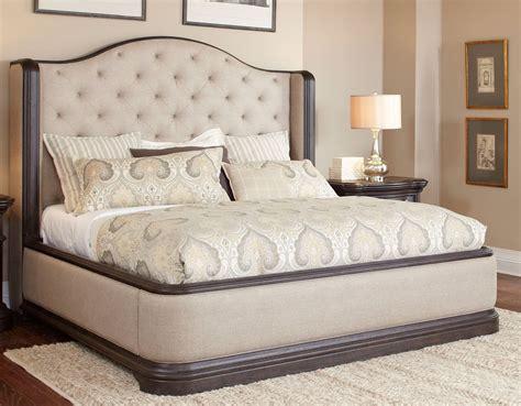 King Size Upholstered Bedroom Sets by Oak Linen Traditional 6 King Bedroom Set