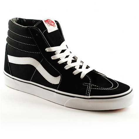 Vans Sk8 Hi by Vans Sk8 Hi Black Black White Forty Two Skateboard Shop