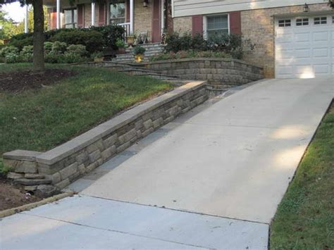 bloombety driveway retaining wall with car garage diy