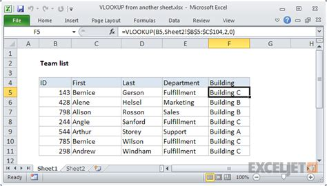 Vlookup Tutorial From Another Sheet | vlookup worksheet resultinfos