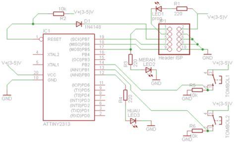 Definisi Programmer sirkitelektronika dasar output input dengan attiny 2313