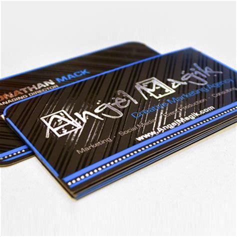 Foil stamped business cards with sliver gold copper black red or blue foil on top 16pt card