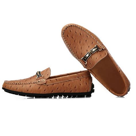 new trendy shoes slip on ostrich loafers high