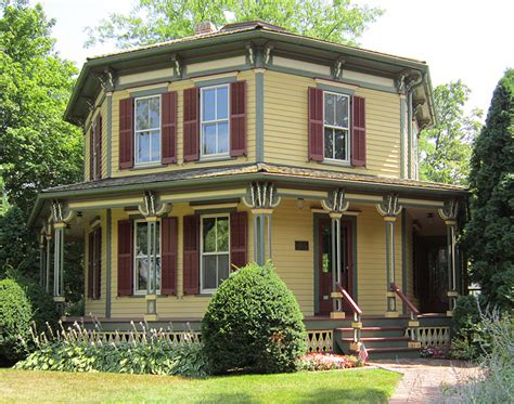octagon house dave s victorian house site illinois gallery