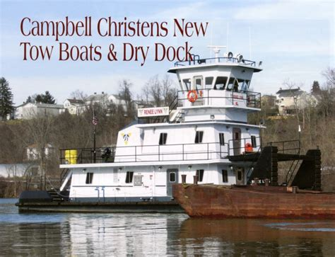 tow boat on dry dock cbell christens new tow boats dry dock inland port