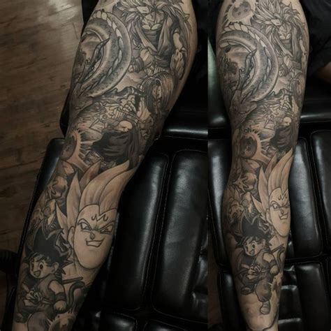 dragon ball z tattoo sleeve 211 best sleeve tattoos ideas for and