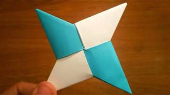 How To Make Shuriken Out Of Paper - how to make a paper shuriken origami
