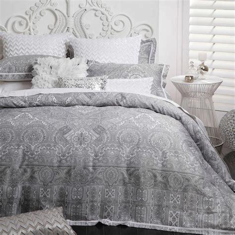 grey paisley comforter silver grey paisley allambra quilt doona cover set logan