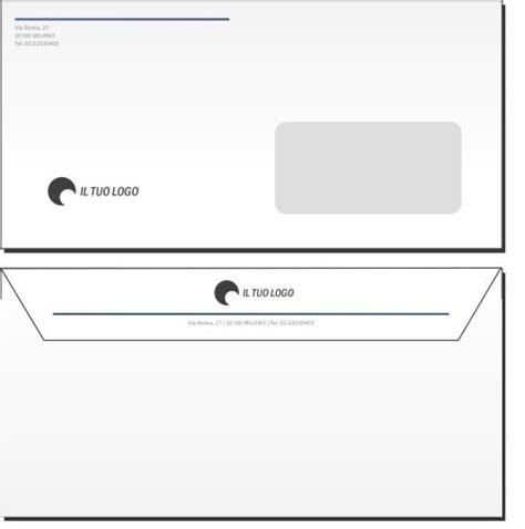 busta da lettere buste da lettera 11x22 con finestra modello 3