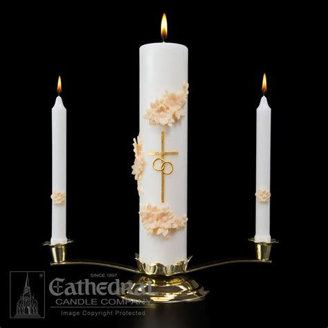Unity Candle by Wedding Unity Candle Set Gold And Churchsupplies