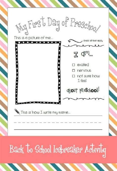 preschool activities for day my day of preschool back to school activity