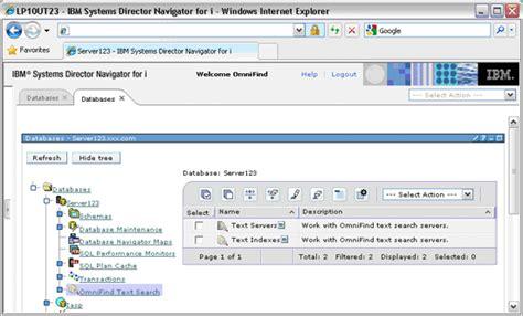 Search For I Using Ibm Navigator For I