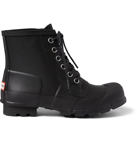 lace up rubber boots mens lace up rubber boots in black for lyst