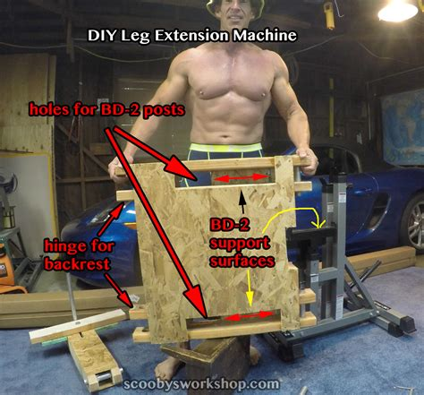diy leg extension machine for quads scooby s home workouts