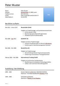 Lebenslauf Vorlage Schüler Doc Lebenslauf Vorlage Klassisch Und Modern Muster Vorlage Ch
