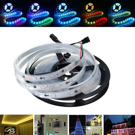 Led With 1903 Ic Ip67 5050 Progamable 5m smd5050 rgb color 6803 ic waterproof ip67 led light l dc12v alex nld