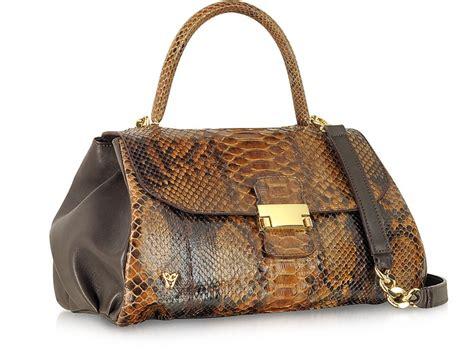 Bag 610 Python ghibli brown python and leather satchel bag at forzieri