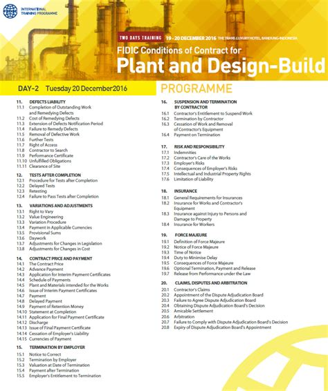design and build contract fidic fidic epc and design build contracts course bandung