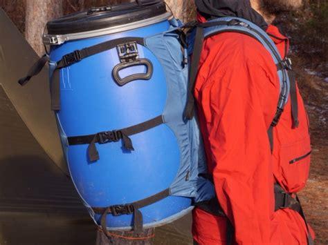 Barrel Pack barrel hauling backpack granite gear vapor flatbed