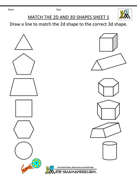 shapes worksheets yr 1 3d shapes worksheets