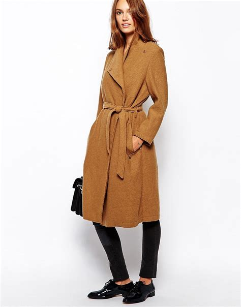 Wool Belted A Line Coat From Ms by Maison Scotch Maison Scotch Belted Coat In Wool At Asos