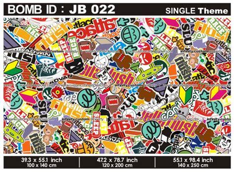 Wallpaper Stiker Motif 8128 image gallery jdm sticker bomb book