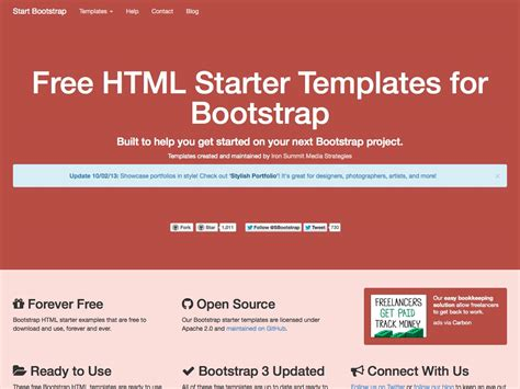 bootstrap themes free open source what s new for designers october 2013 webdesigner depot