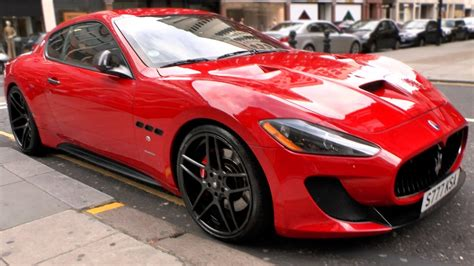 maserati granturismo sport red maserati granturismo s novitec tridente in london youtube