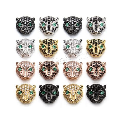 Bag Islam For Everyone 1 Tx 2pcs animal brass leopard plated micro pave cubic zirconia hollow gets