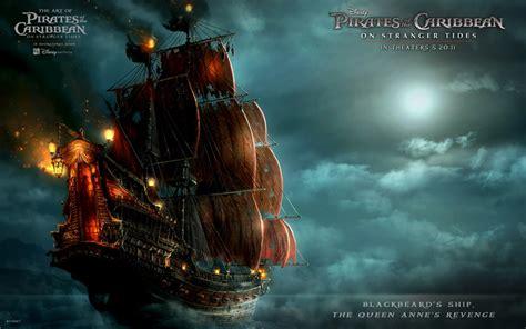 schip pirates of the caribbean blackbeard s ship in pirates of the caribbean 4 wallpapers