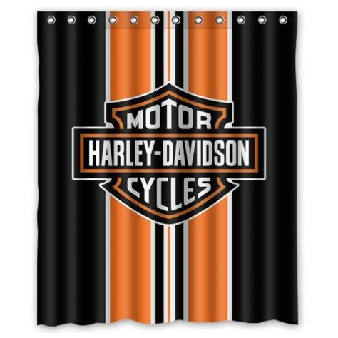 harley davidson shower curtains harley davidson logo shower curtain life changing products
