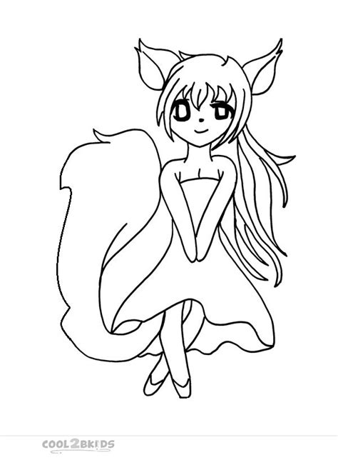 free chibi funny girl coloring pages