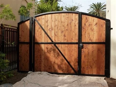 wrought iron frame with wood overlay diaz gates
