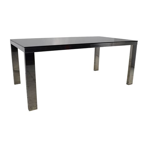 modani dining table 82 modani modani tempered black glass top table