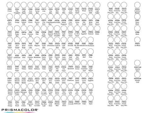 prismacolor marker color chart prismacolor marker chart by neddiedavid on deviantart