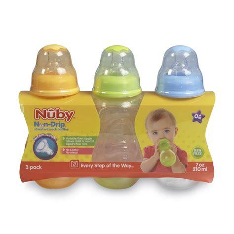 Baby Safe Milk And Warmer T1310 7 nuby infants 3pack non drip bottles 7 ounces baby bottle warmer holder milk ebay