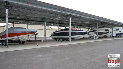covered boat storage covered rv boat storage baja carports solar support