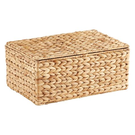 small water hyacinth storage box  hinged lid