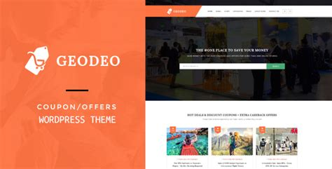 themeforest coupon theme geodeo coupons deals wordpress theme by premiumlayers
