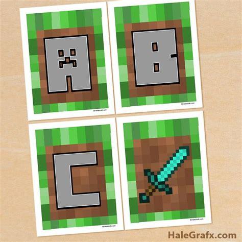 printable minecraft alphabet free printable minecraft alphabet banner video games