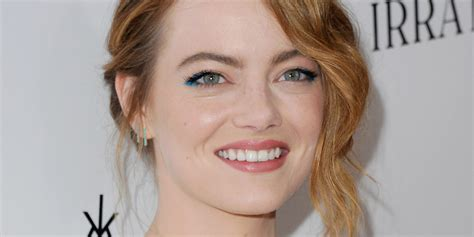 emma stone facebook emma stone goes brunette ditches red locks for a darker do