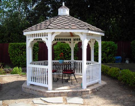 vinyl single roof octagon gazebos gazebos by style gazebocreations com