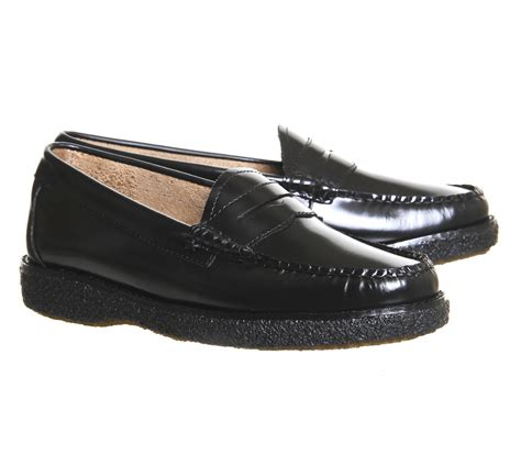 crepe sole loafers g h bass co crepe sole loafers in black lyst