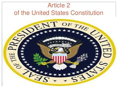 us constitution section 2 article ii of the us constitution